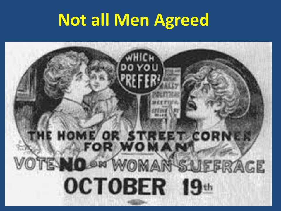 Not all Men Agreed