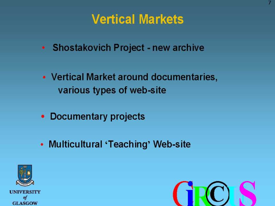 Center for Music Technology Circus at the Workshop Technology Platforms for Cultural and Artistic Creative Expression May 2001 Slide 15