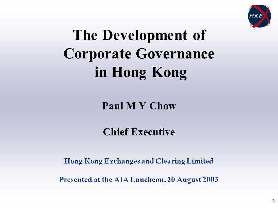 12 Recent Corporate Governance Initiatives