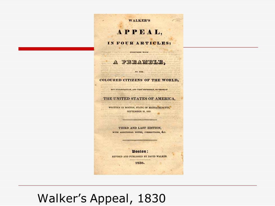 Walker's Appeal, 1830