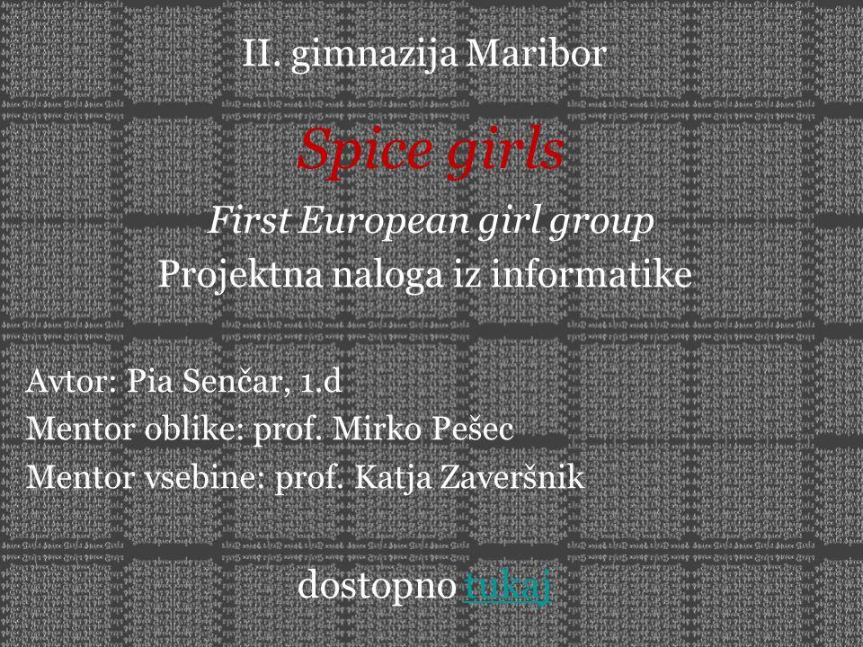II. gimnazija Maribor Projektna naloga iz informatike Avtor: Pia Senčar, 1.d Mentor oblike: prof. Mirko Pešec Mentor vsebine: prof. Katja Zaveršnik do