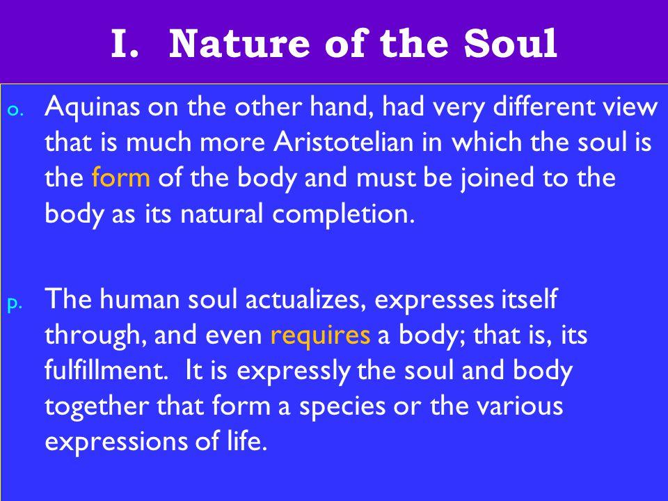 12 I. Nature of the Soul o.