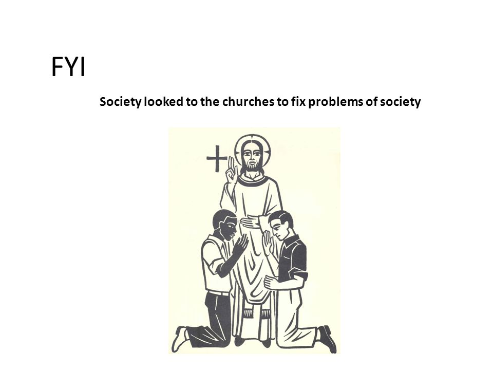 FYI Society looked to the churches to fix problems of society