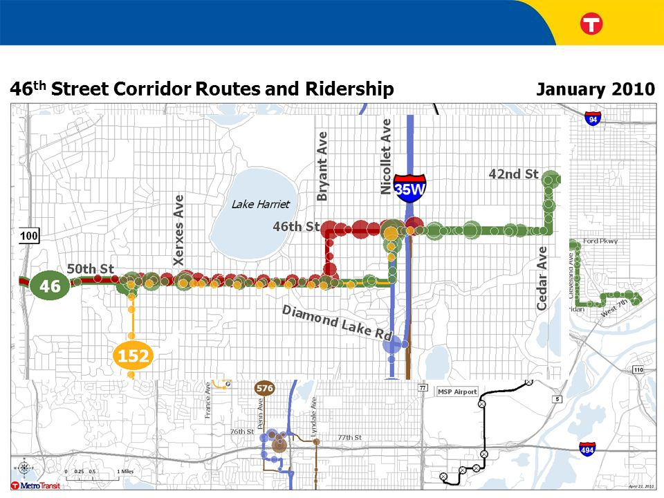 46 th Street Corridor Routes and Ridership