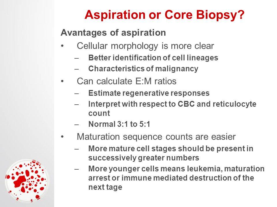 Aspiration or Core Biopsy.