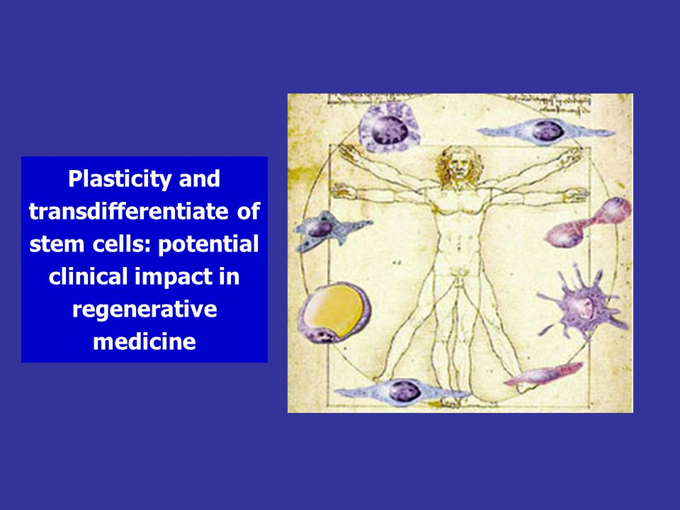 Plasticity and transdifferentiate of stem cells: potential clinical impact in regenerative medicine
