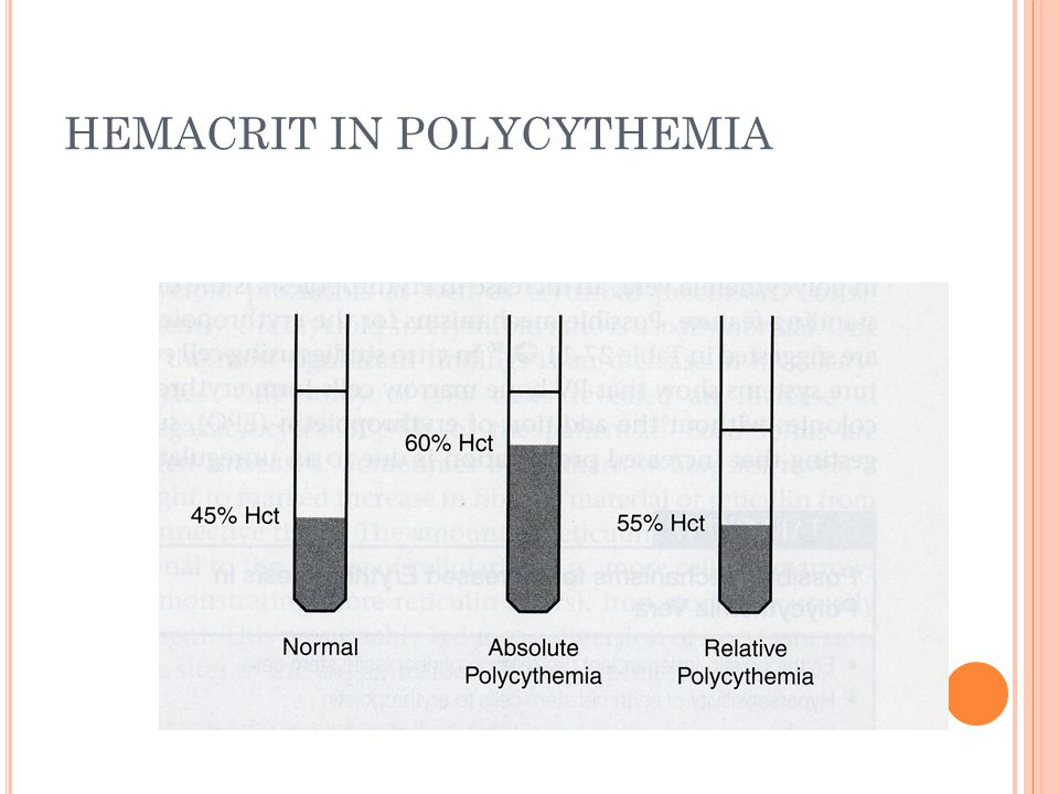 HEMACRIT IN POLYCYTHEMIA