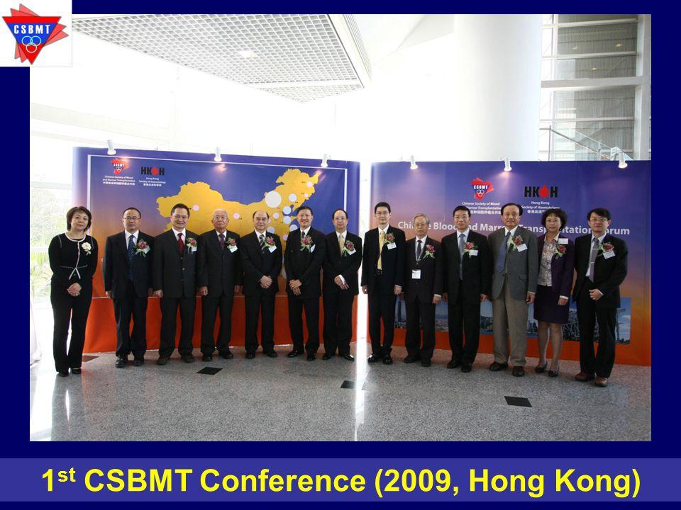 1 st CSBMT Conference (2009, Hong Kong)