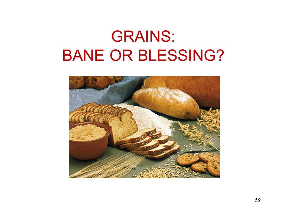 GRAINS: BANE OR BLESSING 59