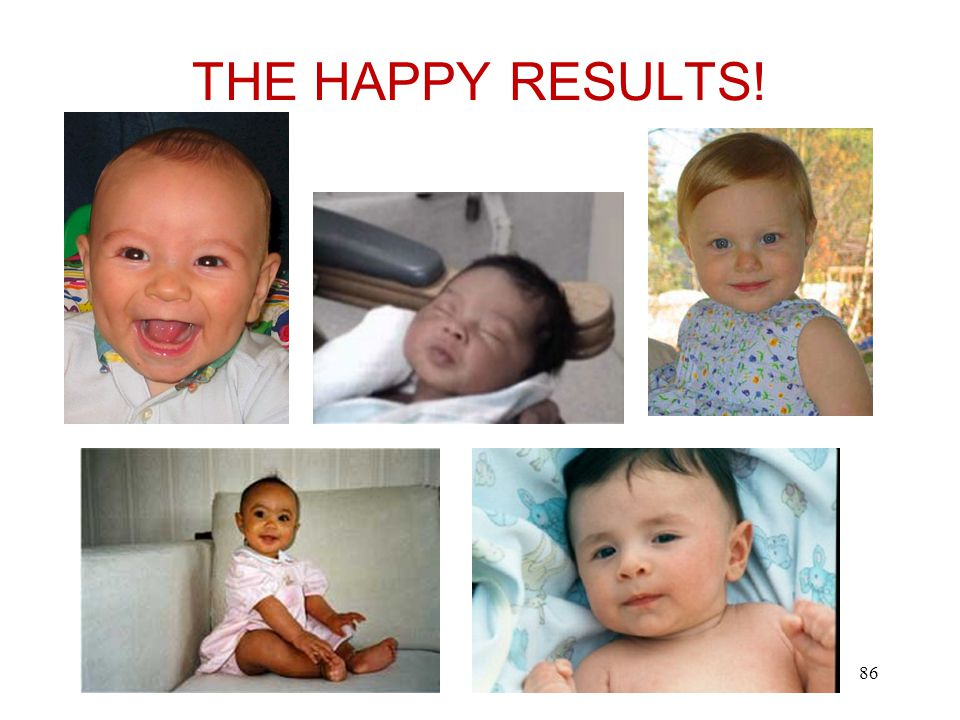 THE HAPPY RESULTS! 86