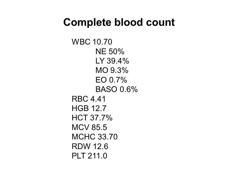 Work-up and evaluation Bone marrow (BM) aspirate and biopsy were procured.
