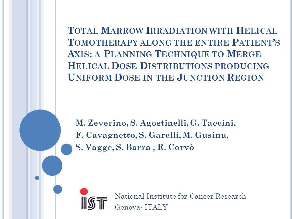 J UNCTION D OSE H OMOGENEITY : T OMO VS L INAC TOMO – Linac junction (NO GAP) - 14% Dmin +10% Dmax M.