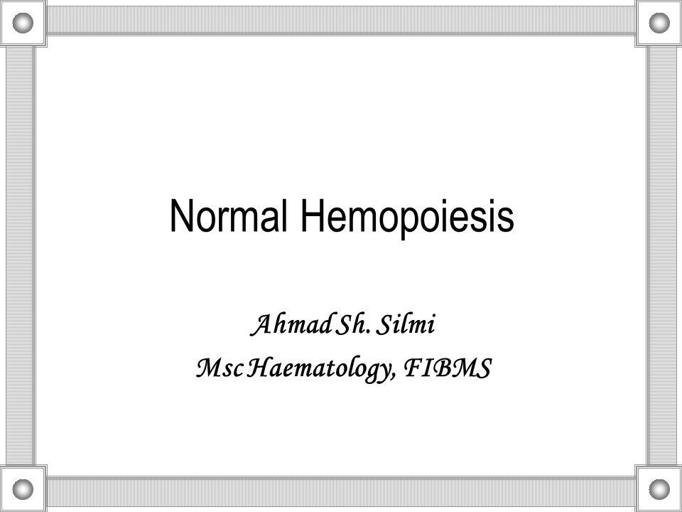Normal Hemopoiesis Ahmad Sh. Silmi Msc Haematology, FIBMS