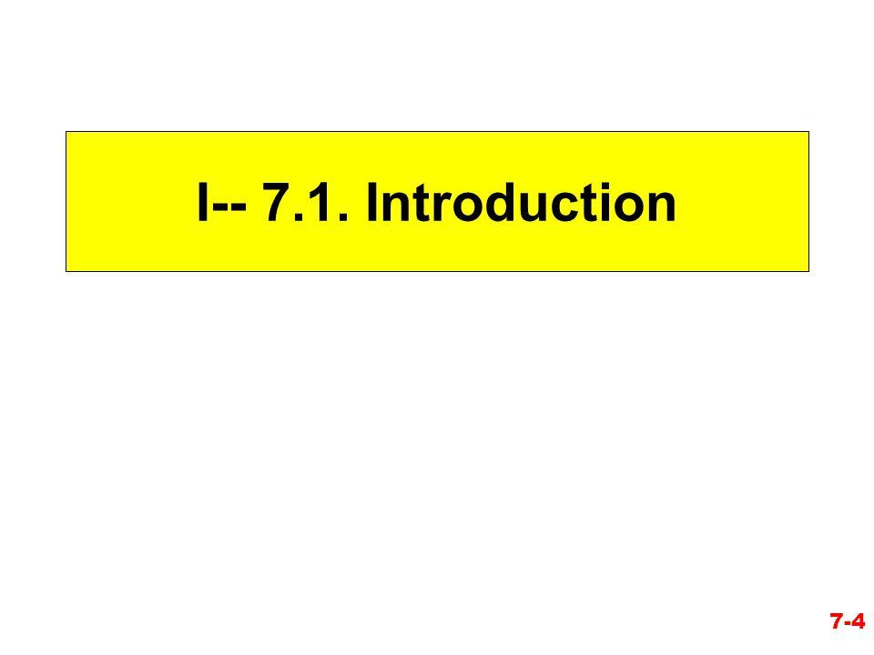 I-- 7.1. Introduction 7-4