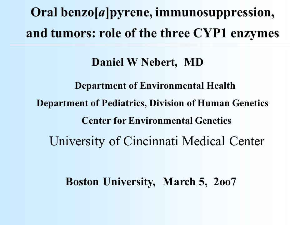 OUTLINE of the TALK Route-of-administration, dose, target organ, and cell-type-specific gene expression (including metabolism)  are all critical in environmentally-caused malignancies CYP1 inducibility also in humans = AHR Paradoxical studies in knockout mice The human CYP, mouse Cyp superfamily Intro: the [Ah] gene battery in the mouse