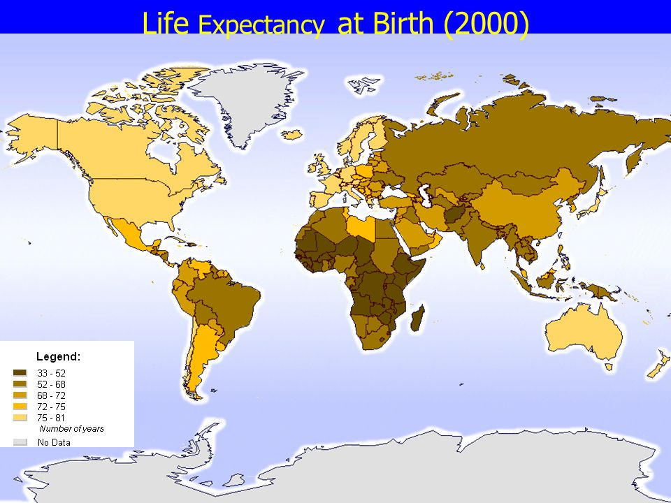 Life Expectancy at Birth (2000)