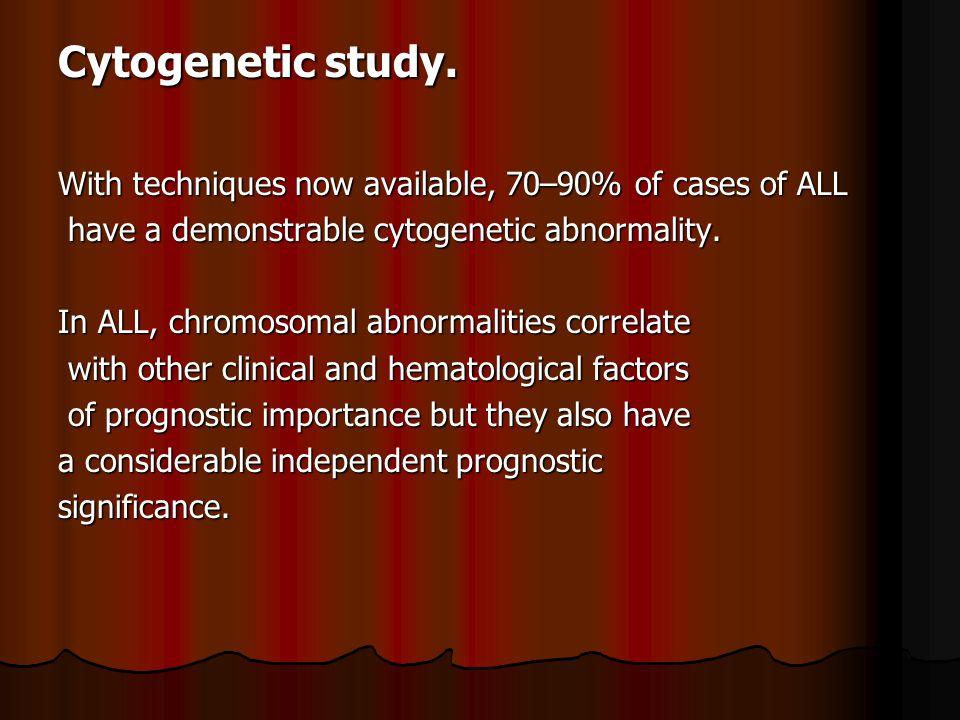 Cytogenetic study.