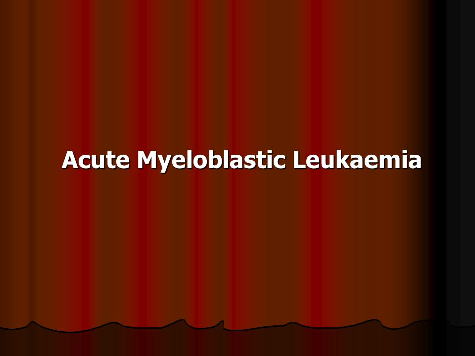 Acute Myeloblastic Leukaemia Acute Myeloblastic Leukaemia
