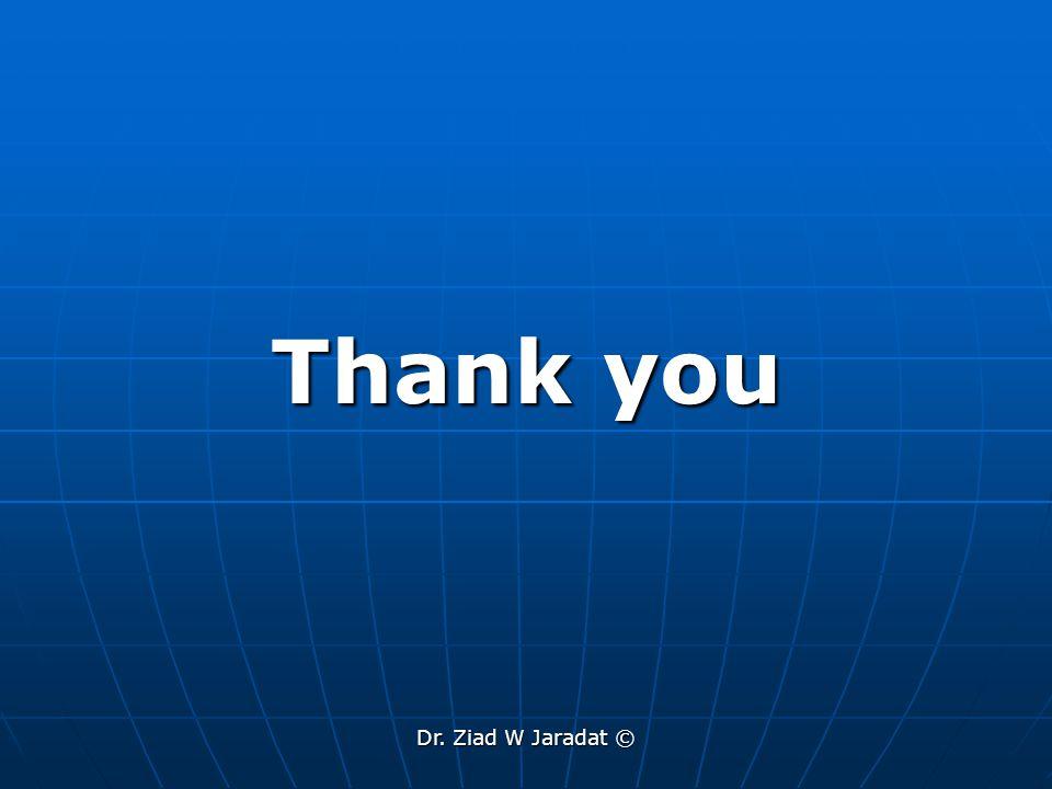 Dr. Ziad W Jaradat © Thank you
