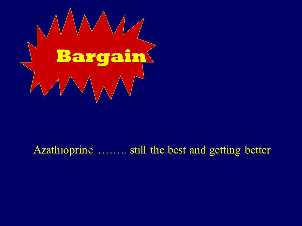 Bargain Azathioprine …….. still the best and getting better