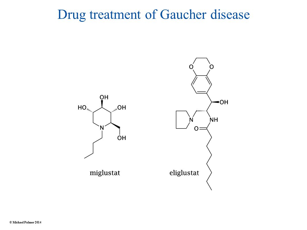 Drug treatment of Gaucher disease © Michael Palmer 2014