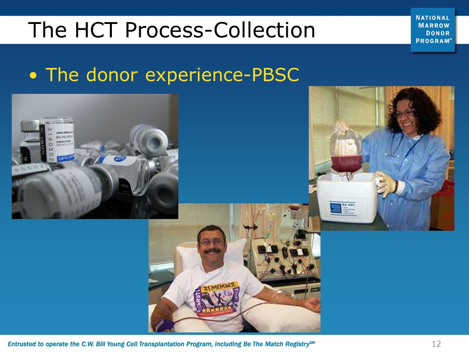 12 The HCT Process-Collection The donor experience-PBSC