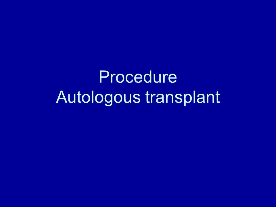 Procedure Autologous transplant