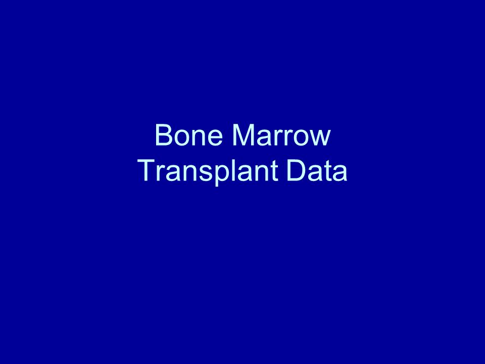 Bone Marrow Transplant Data