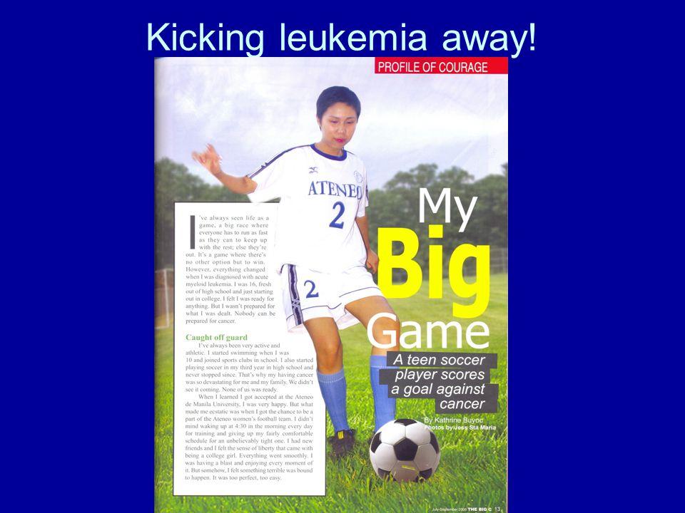 Kicking leukemia away!