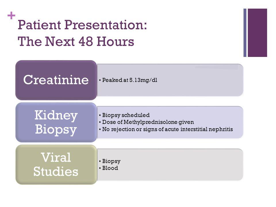 + Patient Presentation Cont.