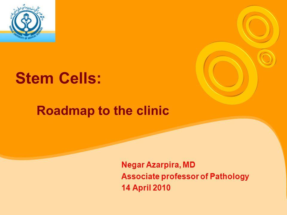 Stem Cells: Roadmap to the clinic Negar Azarpira, MD Associate professor of Pathology 14 April 2010