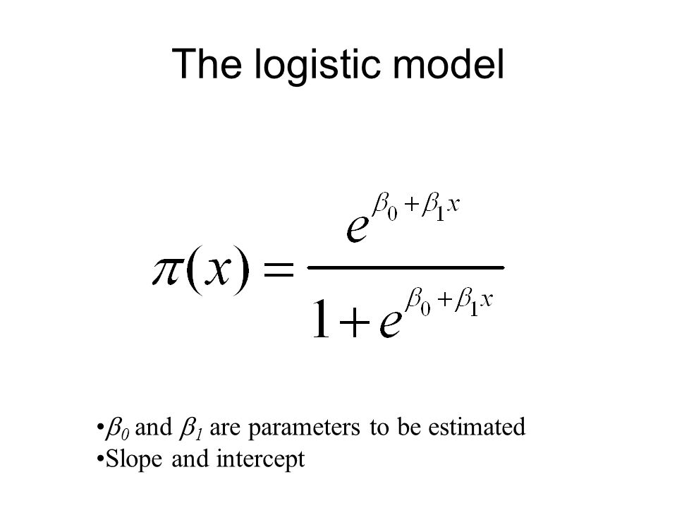 A simpler model Calculate odds –P(event)/P(1-event) –P(y i = 1)/P(y i = 0)
