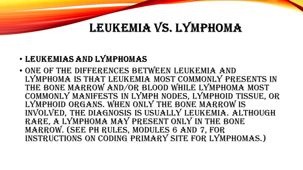 Both leukemia and lymphoma patients may have splenomegaly (enlargement of the spleen).