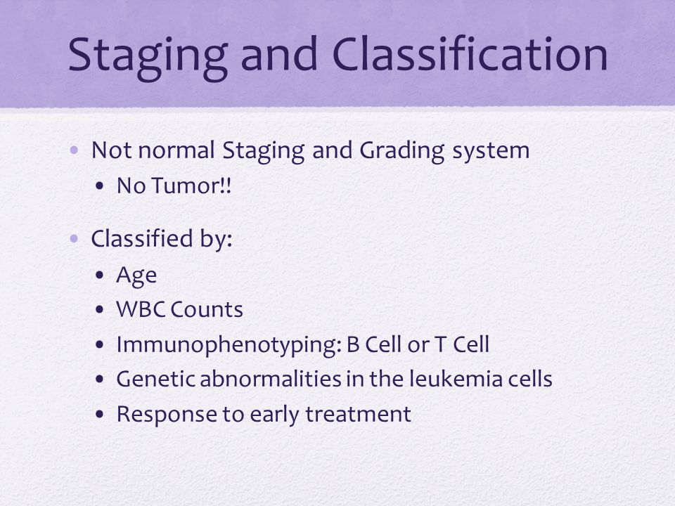 Staging and Classification Not normal Staging and Grading system No Tumor!.