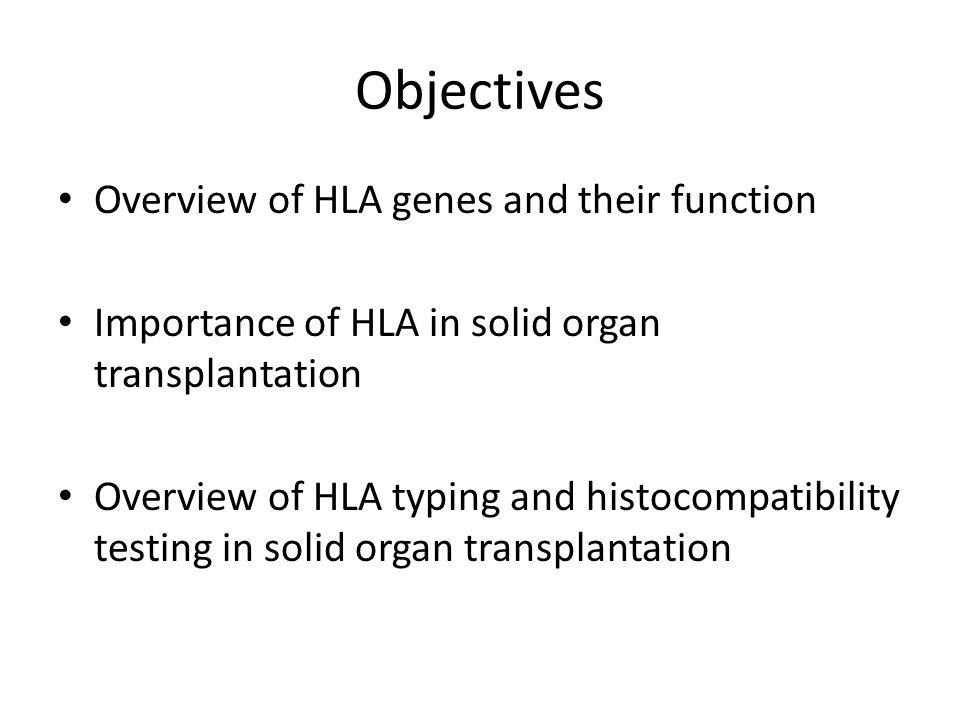 HLA testing in solid organ transplantation Dr.