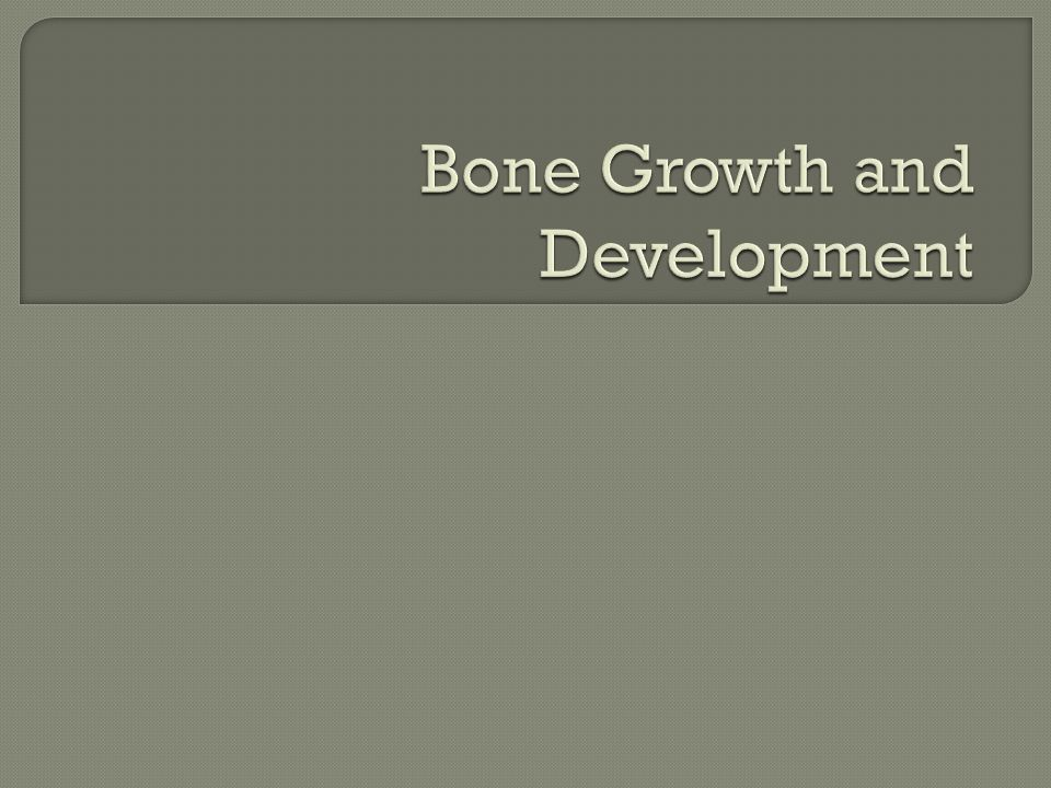  List types of bone  Know the function of cells involved in bone growth  Describe the two methods of bone formation in detail  Explain the factors that affect bone growth