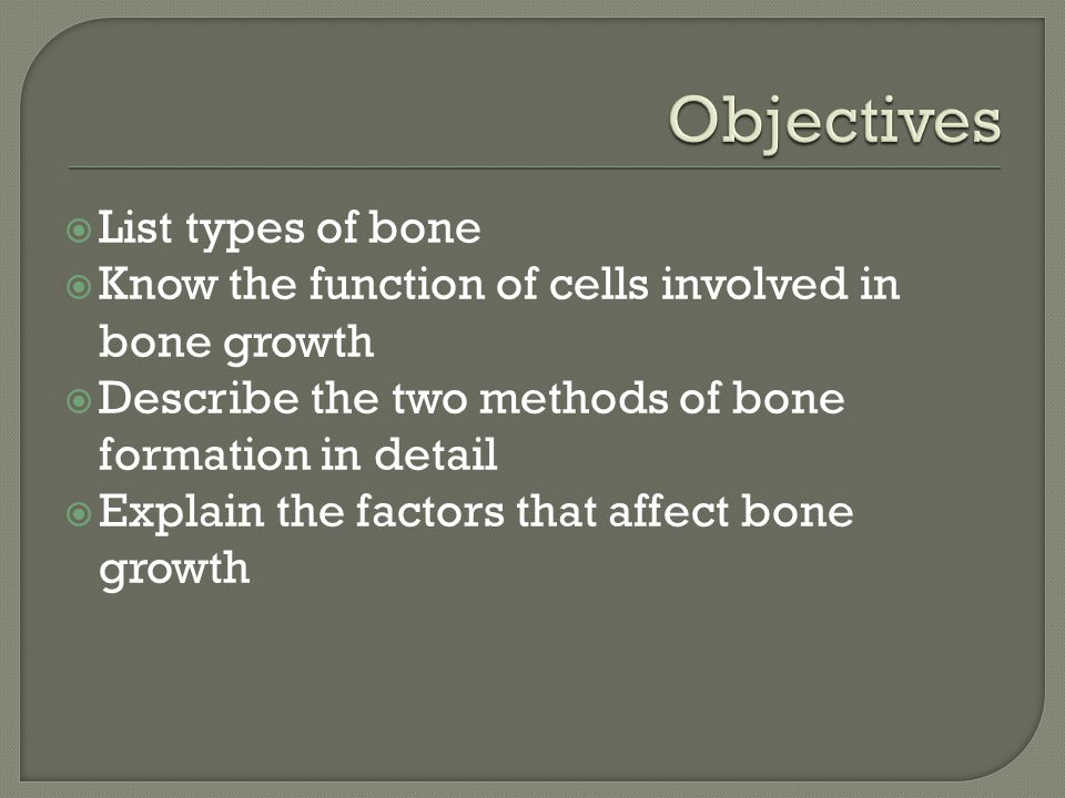  Ossification that occurs with the replacement of cartilage with bone  Prenatally a cartilaginous structure develops that will serve as the template for ossification