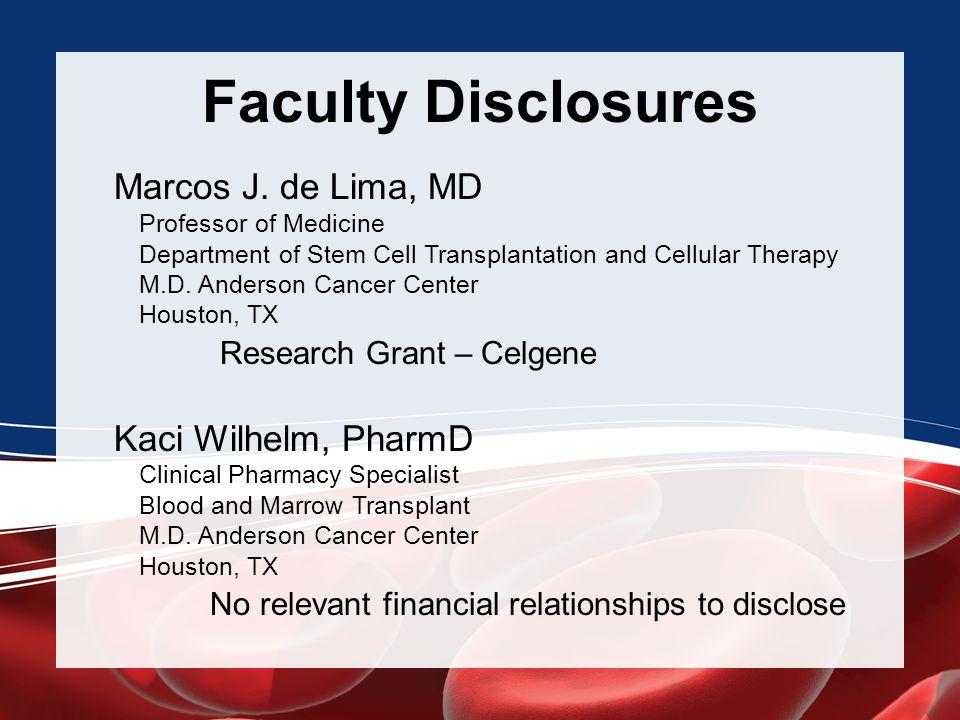 Agenda 12:15-12:45 p.m.Critical Decisions: Pretransplant Conditioning - Marcos J.