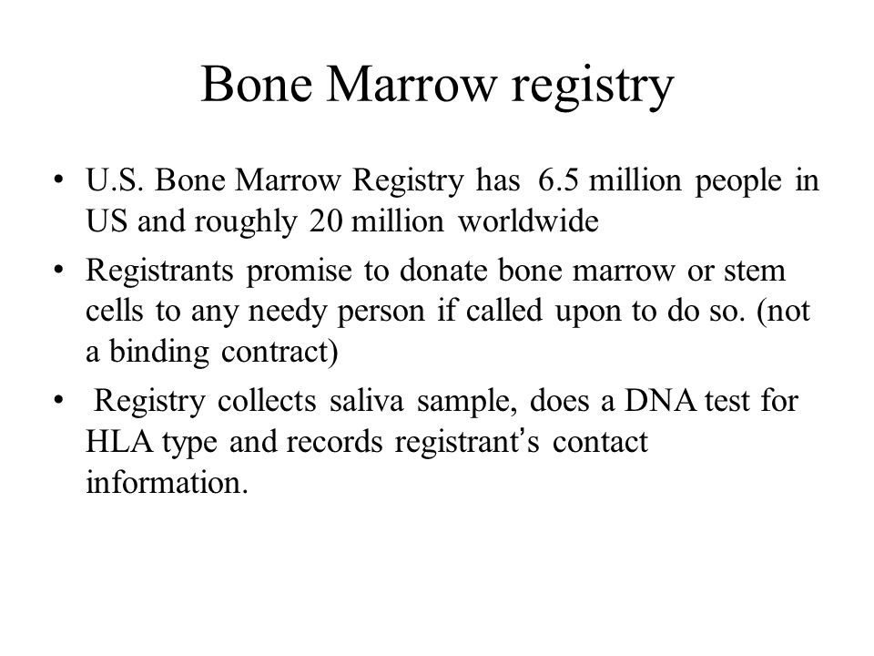 Bone Marrow registry U.S.