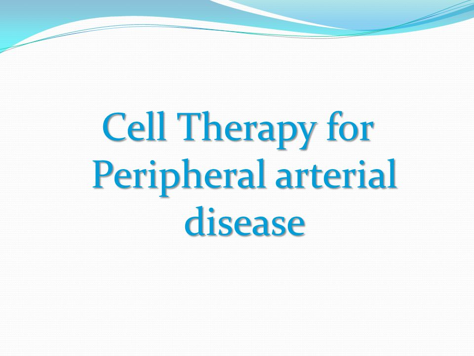 Cell Therapy for Peripheral arterial disease