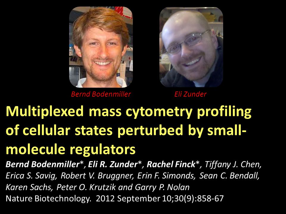 Multiplexed mass cytometry profiling of cellular states perturbed by small- molecule regulators Bernd Bodenmiller*, Eli R.