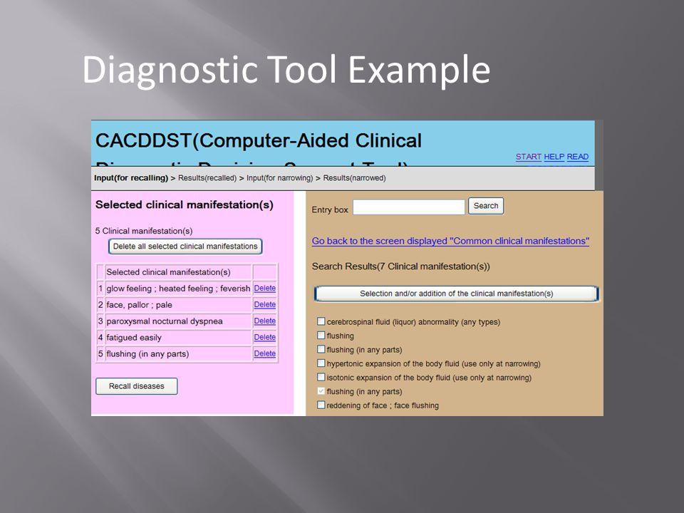Diagnostic Tool Example