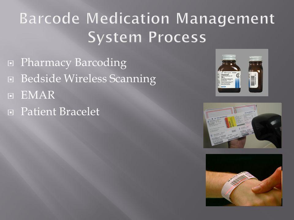  Pharmacy Barcoding  Bedside Wireless Scanning  EMAR  Patient Bracelet