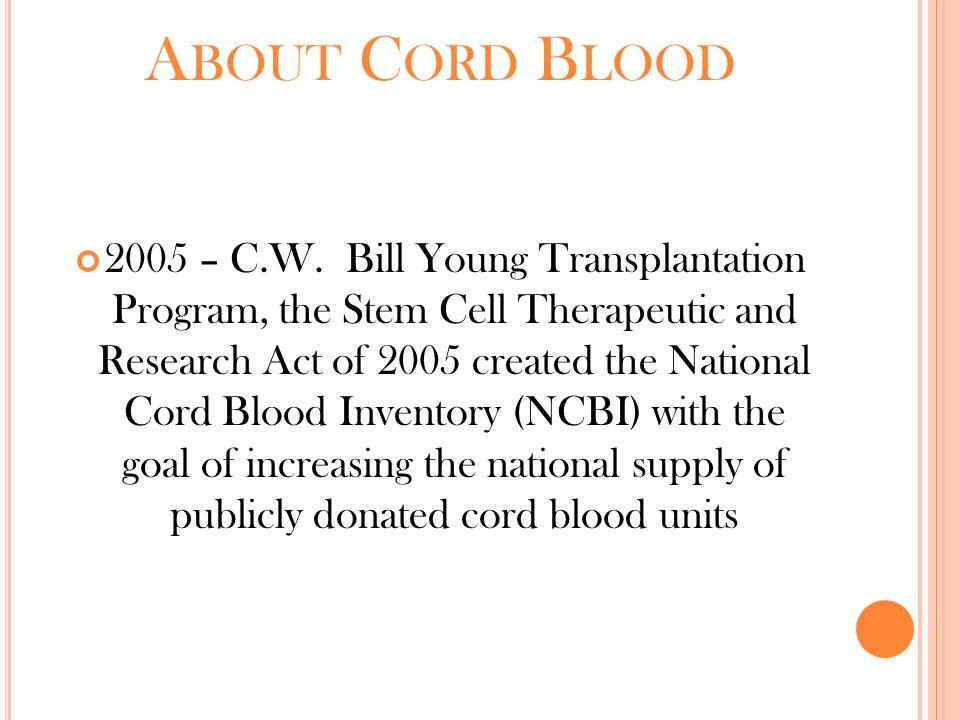 A BOUT C ORD B LOOD 2005 – C.W.