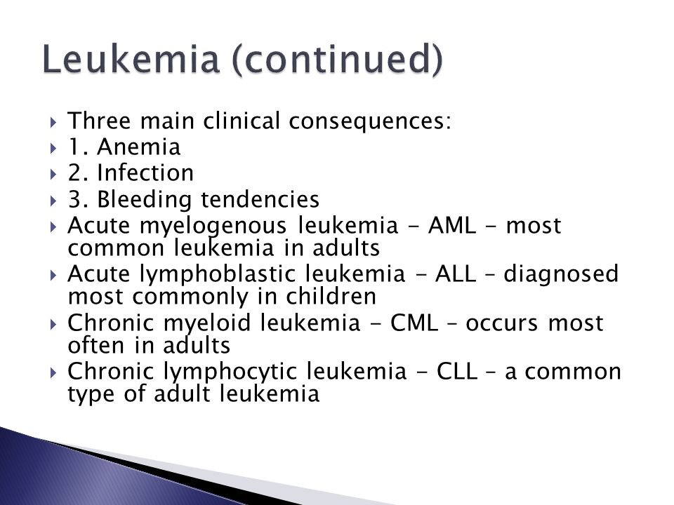  Three main clinical consequences:  1.Anemia  2.