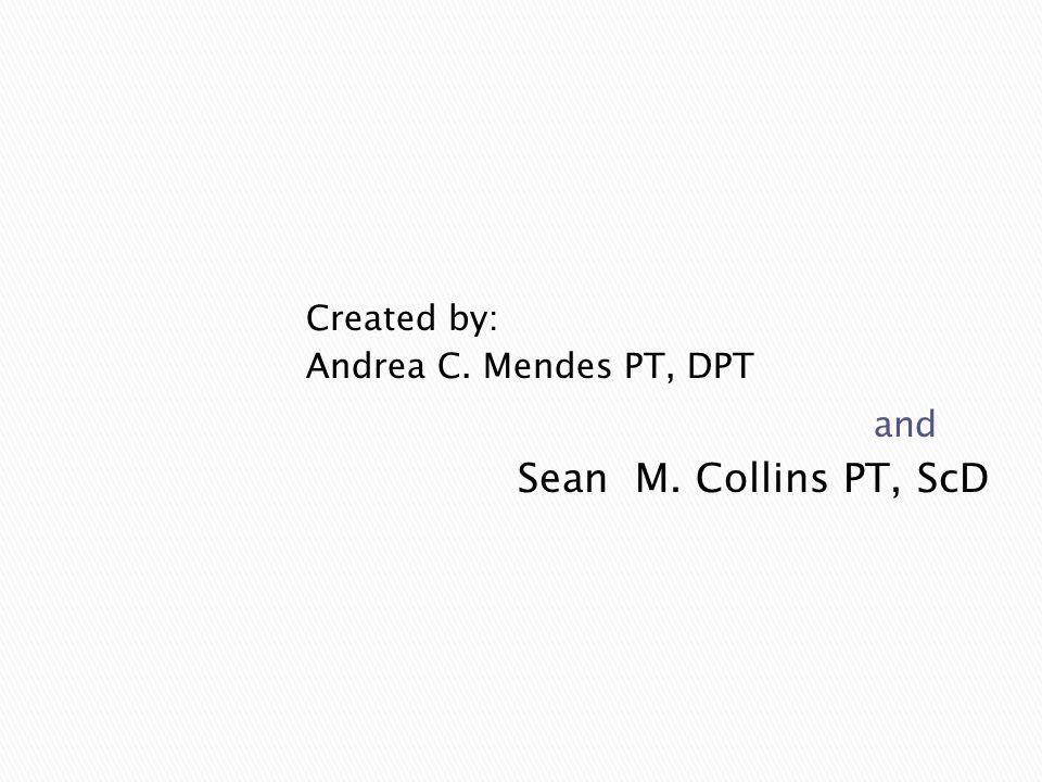 Sean M. Collins PT, ScD Created by: Andrea C. Mendes PT, DPT