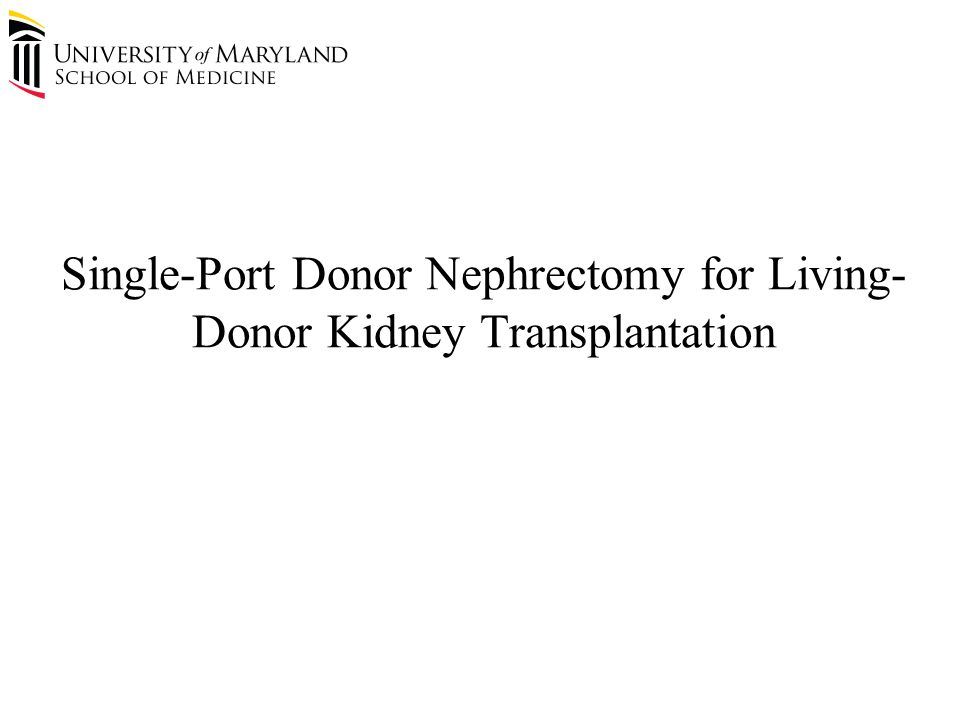 Renal Transplantation as Therapy for End Stage Renal Disease 2000 - 2009 The Organ Procurement and Transplantation Network (OPTN).