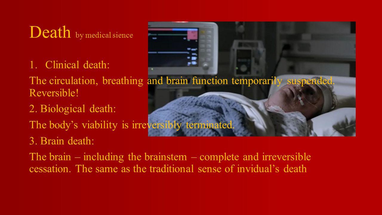 Legal Death – A statutory definition of death.