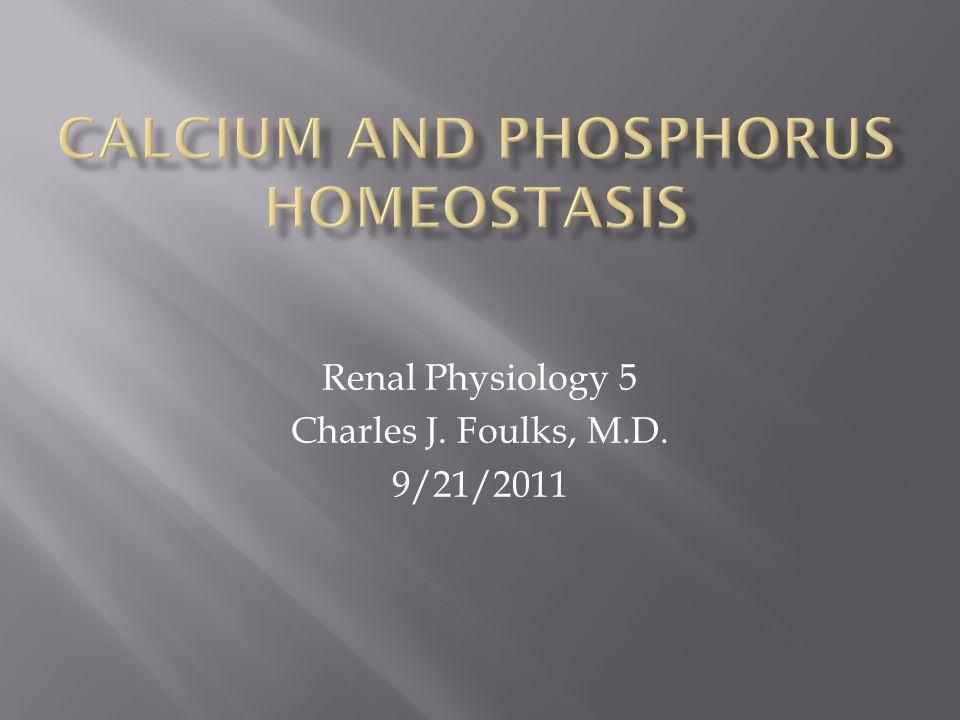 Renal Physiology 5 Charles J. Foulks, M.D. 9/21/2011