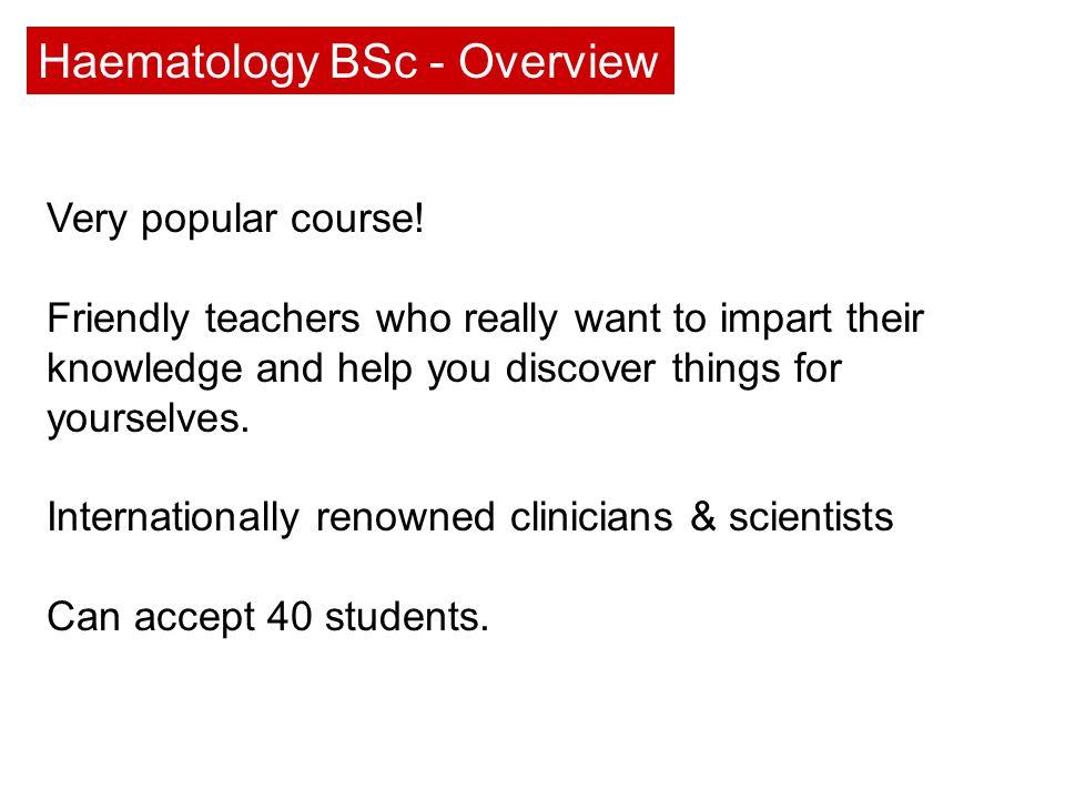 Very popular course.